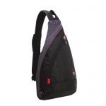 Рюкзак универсальный Wenger черно-серый, с одним плечевым ремнем, 1092230