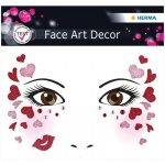 Наклейки для лица Herma Face Art Love, 12х12.7см