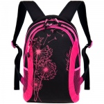 Рюкзак для девочек Grizzly черно-розовый, RD-636-1