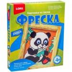 Фреска-картина из песка Lori Крошка панда