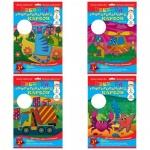 Цветной картон Ктс 5 цветов, А4, 5 листов, гофрированный, Волна