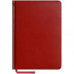 Ежедневник недатированный Office Space Caprice красный, А5, 160 листов, искусственная кожа