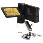 "Микроскоп Levenhuk DTX 500 Mobi 20-500 крат, 3""ЖК-монитор, камера 5Мп, microSD, портативный, цифровой"