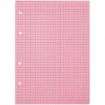 Сменный блок для тетради на кольцах Office Space розовый, А5, 80 листов, в клетку