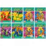 Цветная бумага Биджи 5 цветов, А4, 5 листов, метализированная, ассорти