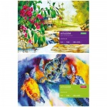 Альбом для акварели Artspace Природа, А4, 180 г/м2, 24 листа, на склейке