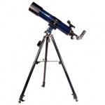 Телескоп Levenhuk Strike 90 PLUS рефрактор, 3 окуляра, ручное управление, для начинающих