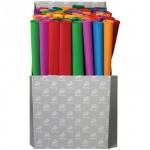 Бумага крепированная Werola набор 100 рулонов, 50х250см, 32 г/м2, растяжение 55%, ассорти