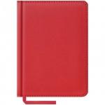 Ежедневник недатированный Office Space Vivella красный, А6, 160 листов, искусственная кожа