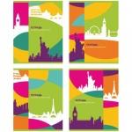 Тетрадь для иностранных слов Биджи Neon Colors, А5, 48 листов, на скрепке, мелованный картон/ лак