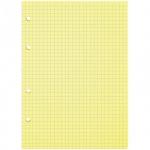 Сменный блок для тетради на кольцах Office Space желтый, А5, 80 листов, в клетку
