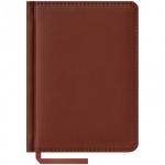 Ежедневник недатированный Office Space Vivella коричневый, А6, 160 листов, искусственная кожа