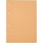 Сменный блок для тетради на кольцах Office Space оранжевый, А5, 80 листов, в клетку