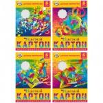 Цветной картон Биджи 5 цветов, А4, 5 листов, металлизированный, Ассорти