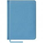 Ежедневник недатированный Office Space Vivella голубой, А6, 160 листов, искусственная кожа