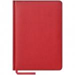 Ежедневник недатированный Office Space Vivella красный, А5, 160 листов, искусственная кожа