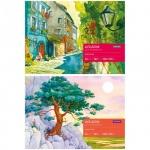 Альбом для акварели Artspace Пейзаж, А4, 180 г/м2, 20 листов, на склейке