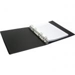 Тетрадь на кольцах Office Space черная, A5, 80 листов, в клетку, пвх