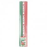 Бумага крепированная Werola красно-зеленая, 50х200см, набор 3 рулона, 35 г/м2, растяжение 35%