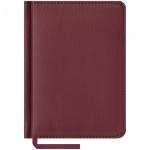 Ежедневник недатированный Office Space Vivella бордовый, А6, 160 листов, искусственная кожа