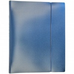 Тетрадь на кольцах Hatber Metallic синяя, А5, 120 листов, в клетку, пластик