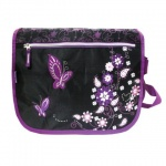 Сумка для девочек Brauberg Орнамент, черно-фиолетовый