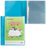 Портфолио школьника Brauberg на кольцах синее, 20 файлов, A4, пластик