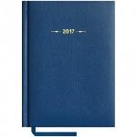 Ежедневник датированный Office Space Derby синий, А6, 176 листов, 2017, балакрон