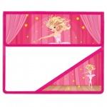 Папка для тетрадей Brauberg А5, Балерина, на липучке, пластик