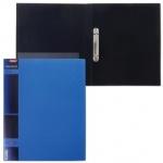 Папка на 2-х кольцах А4 Hatber Wood голубая, 25мм
