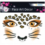 Наклейки для лица Herma Face Art Leopard, 12х12.7см