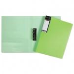 Папка пластиковая с зажимом Hatber HD неоново-зеленая, А4