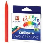 Набор восковых карандашей Луч Классика 24 цвета, круглые