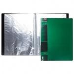 Папка файловая Hatber Wood зеленая, A4, на 20 файлов