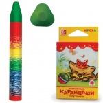 Набор восковых карандашей Луч Кроха 6 цветов, на масляной основе, трехгранные