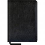 Ежедневник недатированный Office Space Sarif черный, А5, 160 листов, искусственная кожа