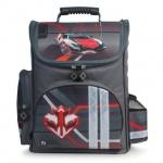Ранец для мальчиков Brauberg Красная машина, серый, плотные боковины и дно