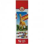 Пластилин Koh-I-Noor Жираф 10 цветов, 200г