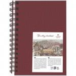Блокнот для рисования Palazzo Travelling sketchbook бордовый вертикальный, А5, 130 г/м2, 80 листов, на спирали, тонированный, слоновая кость