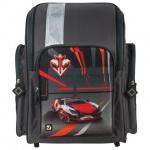 Ранец для мальчиков Brauberg Красная машина, серый, пластиковые ножки