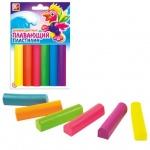 Пластилин Луч 6 цветов, 84г, плавающий, флюоресцентный
