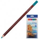 Набор цветных карандашей Невская Палитра 12 цветов, пастельные