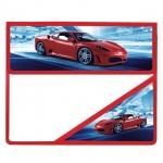 Папка для тетрадей Brauberg А5, Красный авто, на липучке, пластик