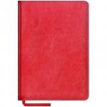 Ежедневник недатированный Office Space Sarif красный, А5, 160 листов, искусственная кожа