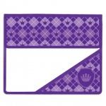 Папка для тетрадей Brauberg А5, Клетка, фиолетовая, на липучке, пластик
