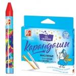 Набор масляных карандашей Луч Престиж 10 цветов + 2 цв. металлик