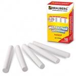 Мелки школьные Brauberg белые, 10 штук, круглые, формула антипыль