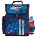 Ранец для мальчиков Brauberg Внедорожник, сине-голубой, плотные боковины и спинка