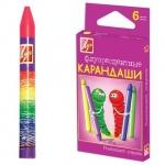 Набор восковых карандашей Луч Флюрисветики 6 цветов, на масляной основе