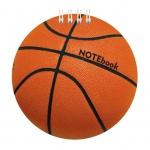 Блокнот Hatber Баскетбол, А6, 60 листов, нелинованный, на спирали, мелованный картон, фигурная высечка